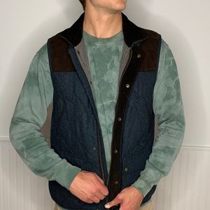 Jos A. Bank Navy Tweed Vest